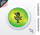 no microphone sign icon....