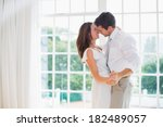 side view of a loving young... | Shutterstock . vector #182489057