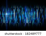 cool pixel background in blue | Shutterstock . vector #182489777