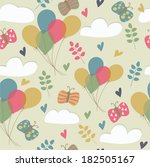 cute seamless background with...