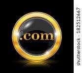 golden shiny icon on black... | Shutterstock .eps vector #182512667