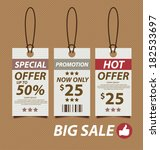 price tags vector illustration | Shutterstock .eps vector #182533697