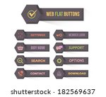 vector flat modern web button