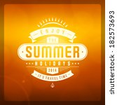 summer vector typography.... | Shutterstock .eps vector #182573693