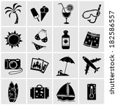 vacation icons set | Shutterstock . vector #182586557