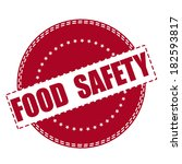 Food Safety Grunge Stamp With...