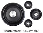 four speakers isolated on a... | Shutterstock . vector #182594507