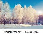 fantastic winter landscape.... | Shutterstock . vector #182603303
