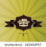vector. restaurant menu design | Shutterstock .eps vector #182603957