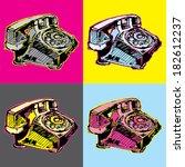 pop art vintage telephone | Shutterstock .eps vector #182612237