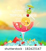 summer holidays vector... | Shutterstock .eps vector #182625167