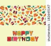 happy birthday   Shutterstock .eps vector #182645147