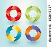 rolls of multicolored arrows | Shutterstock .eps vector #182648117