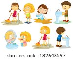 illustration of the kids... | Shutterstock . vector #182648597