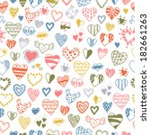 seamless pattern of hand drawn... | Shutterstock .eps vector #182661263