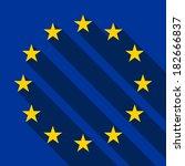 flag of europe  flag of... | Shutterstock .eps vector #182666837