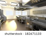 realistic 3d render of kitchen | Shutterstock . vector #182671133
