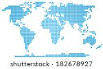 abstract map of the world made...   Shutterstock . vector #182678927