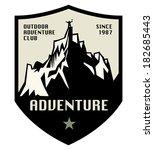 mountain adventure label or...   Shutterstock .eps vector #182685443