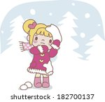 girl being attacked with... | Shutterstock . vector #182700137