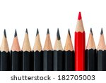 One Red Pencil Standing Out...