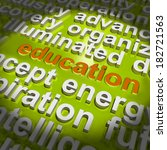 education word cloud meaning... | Shutterstock . vector #182721563