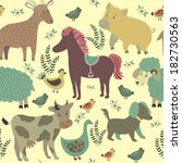 vector seamless pattern with... | Shutterstock .eps vector #182730563