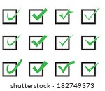 vector confirm icons set. yes... | Shutterstock .eps vector #182749373