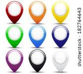 set of buttons | Shutterstock .eps vector #182764643