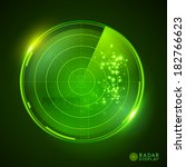 a green vector radar display....   Shutterstock .eps vector #182766623