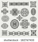 design elements set 1  abstract ... | Shutterstock .eps vector #182767433