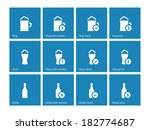 bottle and glass of beer icons...