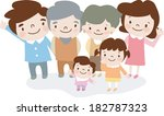 entire family posing together  | Shutterstock . vector #182787323