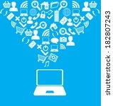 technology design over blue... | Shutterstock .eps vector #182807243