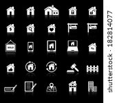 real estate icons with reflect... | Shutterstock .eps vector #182814077