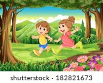 illustration of the children... | Shutterstock .eps vector #182821673