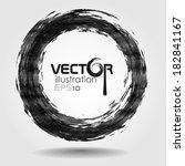 black brush stroke in the form... | Shutterstock .eps vector #182841167