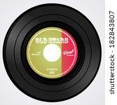 vinyl record | Shutterstock .eps vector #182843807