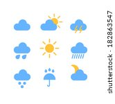 weather forecast color web... | Shutterstock .eps vector #182863547