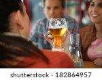 closeup of glass of beer | Shutterstock . vector #182864957