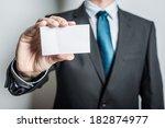 man's hand showing business... | Shutterstock . vector #182874977