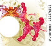 floral  vector background  with ... | Shutterstock .eps vector #182876513