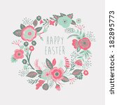happy easter card | Shutterstock .eps vector #182895773