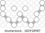 circles  font  modern style ... | Shutterstock .eps vector #182918987