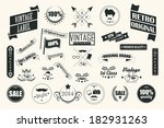 collection of vintage retro... | Shutterstock .eps vector #182931263