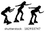 vector silhouette of a woman on ...