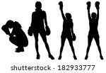 vector silhouette of a people... | Shutterstock .eps vector #182933777
