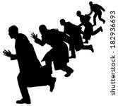 vector silhouette of... | Shutterstock .eps vector #182936693