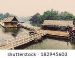 rafting accommodation and pier... | Shutterstock . vector #182945603
