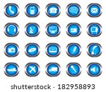blue buttons on white background | Shutterstock .eps vector #182958893